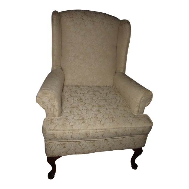 Vintage French Country Wingback Chair - Image 1 of 11
