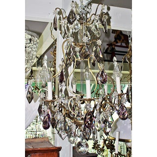 French Baccarat Lyre-Style Chandelier Preview