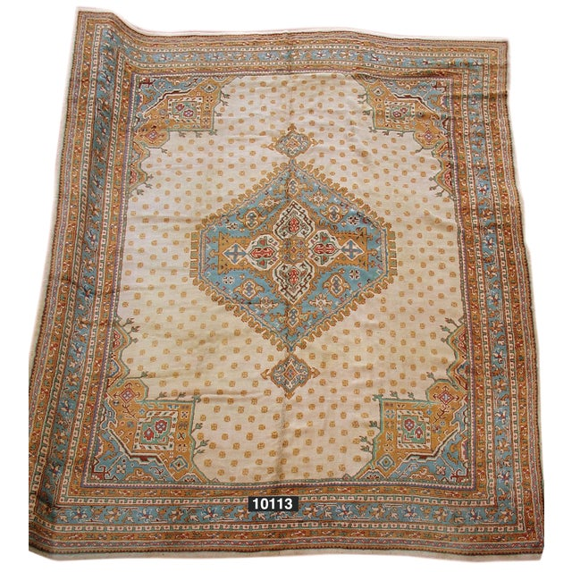 Oushak Carpet - 11′5″ × 13′5″ For Sale