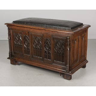 19th Century Vintage French Gothic Revival Blanket Chest Preview