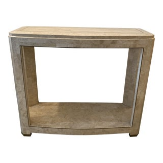 1980s Tessellated Stone Console Table by Maitland Smith For Sale