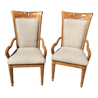 Carved Empire Chairs - A Pair