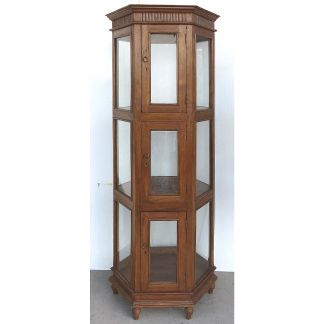 Antique Hexagonal Display Cabinet - Image 2 of 10