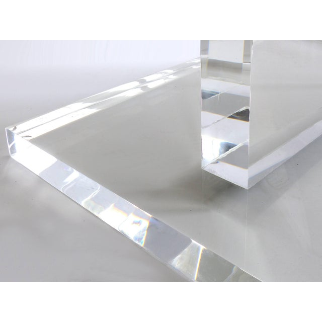 Custom Lucite Side Table With Removable Black Acrylic Sleeve For Sale In Miami - Image 6 of 7