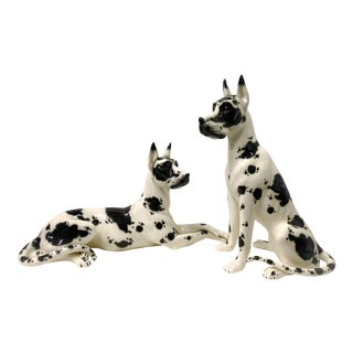 Life Size Great Danes by Lladro Daisa - A Pair