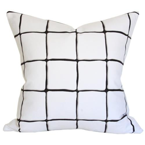 """Painted Check Ink Pillow Cover 17"""" - Image 3 of 3"""
