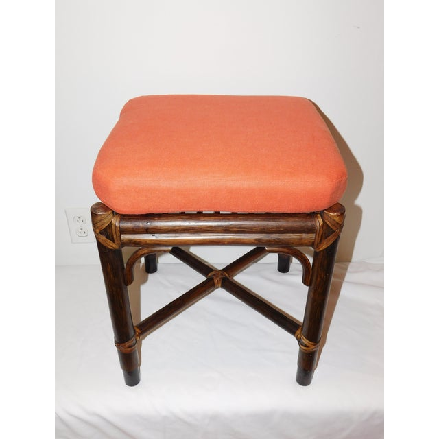 Vintage McGuire Rattan Benches - Pair - Image 7 of 10