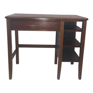 Antique Burlwood Writing Desk For Sale