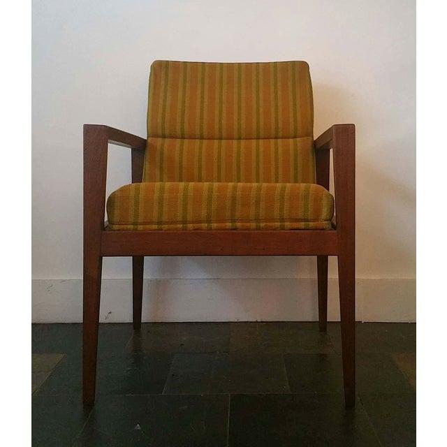 Jens Risom Walnut Cube Desk Chair - Image 3 of 7