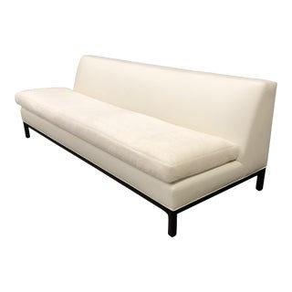 Holly Hunt La Leather & Wool Sofa For Sale