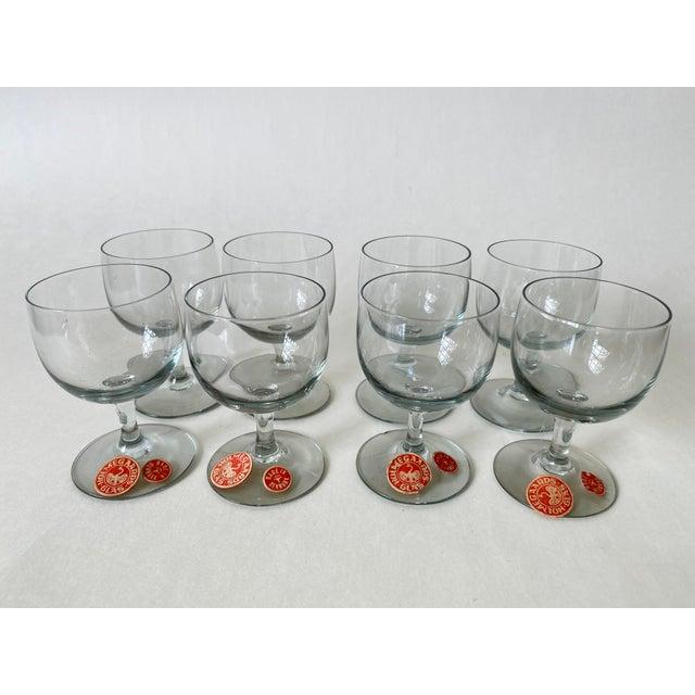 Vintage 1950s Holmegaard Denmark Elsinore Smoke Glass Cordials Stemware - Set of 8 For Sale - Image 10 of 10