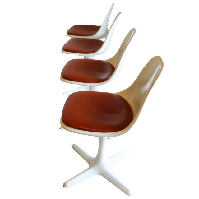 Mid-Century Modern Burke Tulip Chairs - Set of 4 - Image 7 of 9