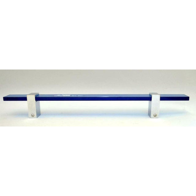Priced individually, these lovely Blu Sky art glass towel bars by Fontana Arte really dress up a bathroom. Made in Italy....