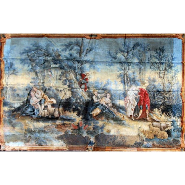 Large Rococo Wall Hanging Tapestry 19th Century - Image 2 of 10