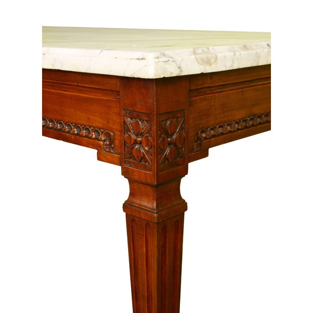 French Mahogany Console with Marble Top For Sale - Image 3 of 4