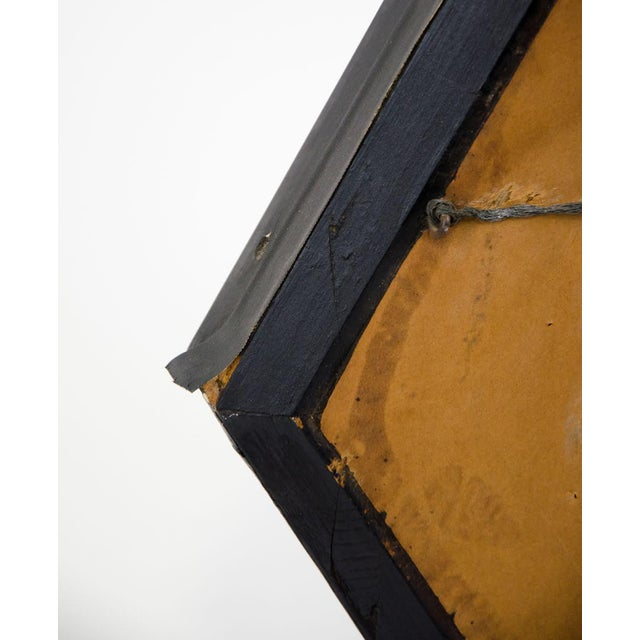 Italian Style Painted and Brass Inlaid Hexagonal Wall Mirror For Sale - Image 10 of 12