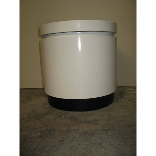 1970s 1970s Mid Century Modern White and Black Stand For Sale - Image 5 of 8