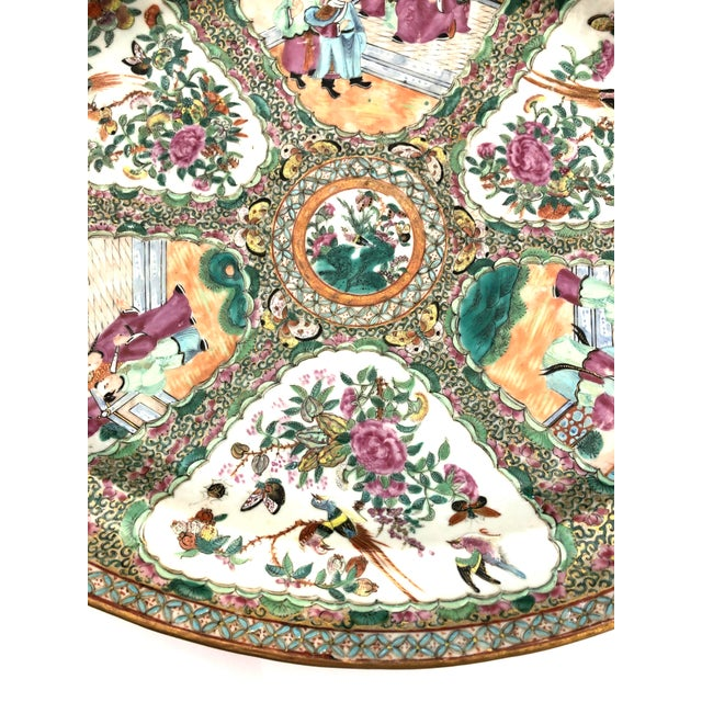 Rose Exceptional & Large Chinese Export Canto, Rose Medallion Platter, 18th C. For Sale - Image 8 of 11