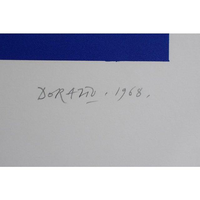 "Vintage Mid-Century ""Untitled"" Piero Dorazio Signed Serigraph Print For Sale - Image 4 of 10"