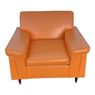 Mid-Century Modern Orange Chair For Sale