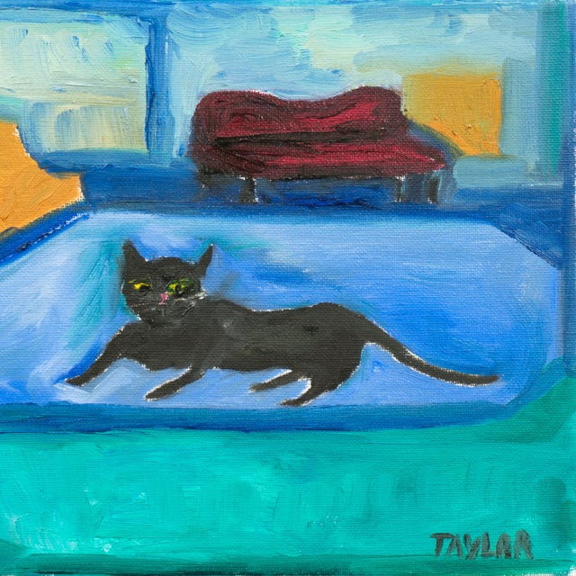 Interior With Black Cat Painting - Image 3 of 4