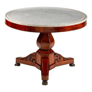 19th Century French King Louis Philippe I Marble Top Guéridon Center Table For Sale