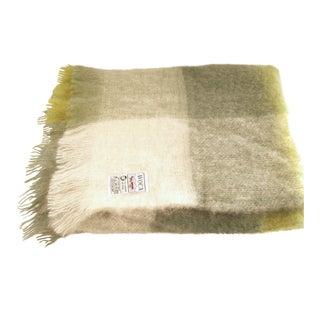 Avoca Green Plaid Irish Mohair Wool Throw Blanket For Sale