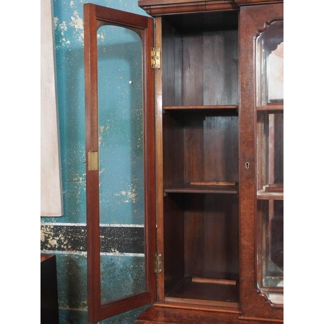 """1920s English Burl Walnut """"Cocktails"""" Bar Cabinet-1920's For Sale - Image 5 of 9"""