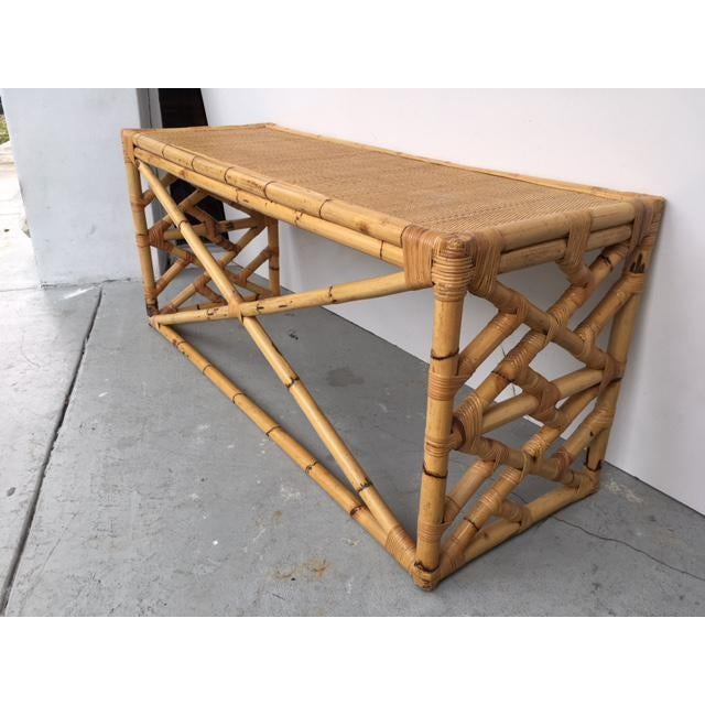 Tropical Chic Bamboo & Rattan Console - Image 8 of 8