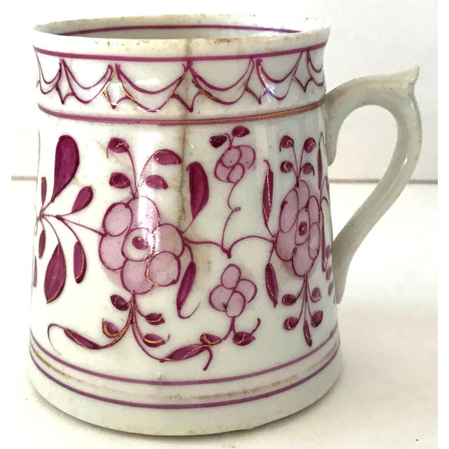 Early 18th-Century Meissen Purple Indian Coffee Can For Sale - Image 10 of 10