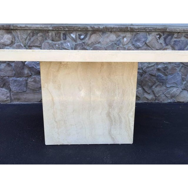 Large Italian Travertine Dining Table - Image 5 of 6