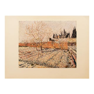 "1950s Van Gogh, First Edition Lithograph After ""Orchard. Springtime"" Painting For Sale"