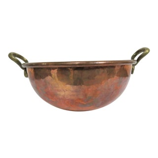 19th Century Antique French Copper Mixing Bowl For Sale