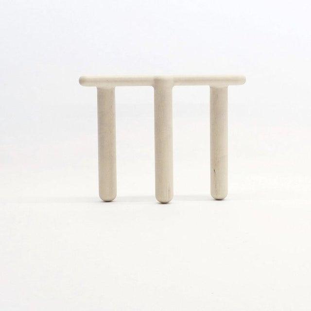White Loïc Bard Stool Bone 09 For Sale - Image 8 of 8