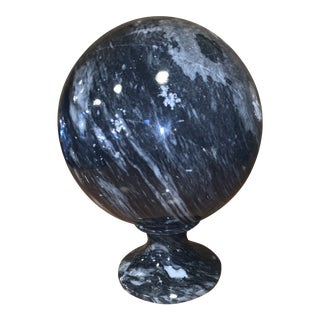 Marble Orb and Stand For Sale