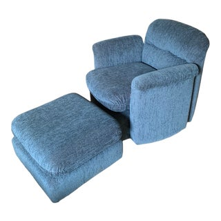 Mid-Century Modern Chair & Ottoman For Sale