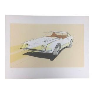 Vintage Raymond Loewy Studebaker Avanti Lithograph