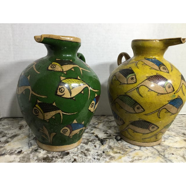 Vintage Persian Ceramic Vessels - A Pair - Image 8 of 11