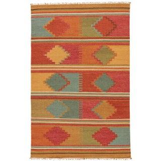 Jaipur Living Byzantium Handmade Geometric Multicolor Area Rug - 4′ × 6′ For Sale