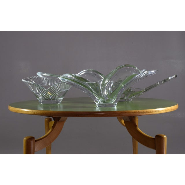 20th Century French Crystal Centerpiece Bowl, 1960-1970s For Sale - Image 6 of 7