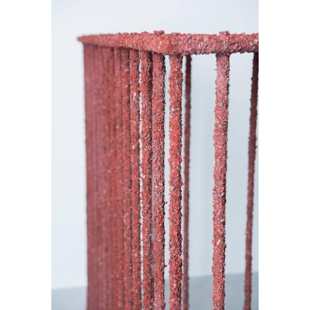 Hand Made Console of Crushed Red Jasper From India, by Samuel Amoia For Sale - Image 9 of 10