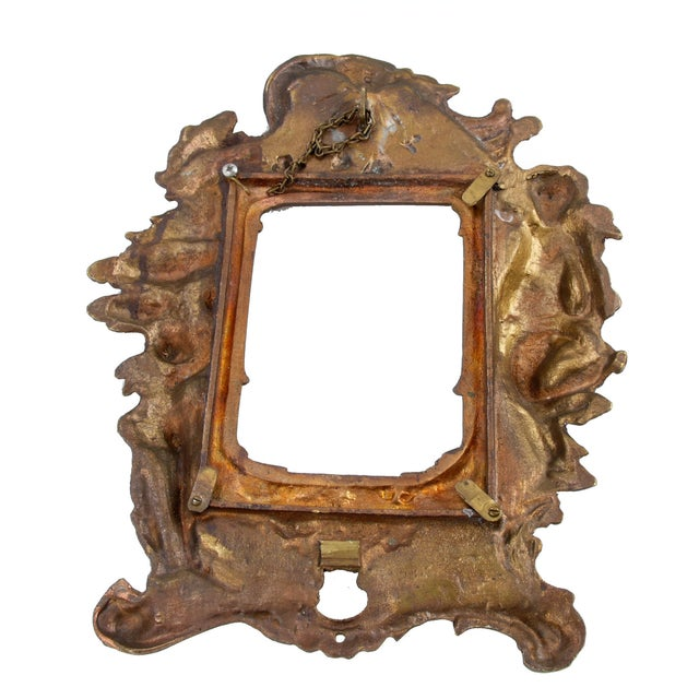 Metal 1970s Bronze Frames With Angel Motifs - Pair For Sale - Image 7 of 8