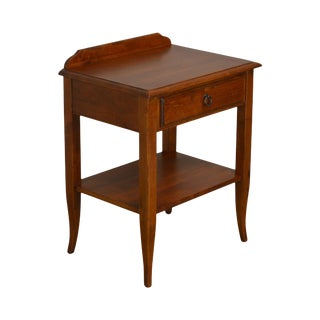 Ethan Allen French Country Style Solid Cherry One Drawer Nightstand For Sale