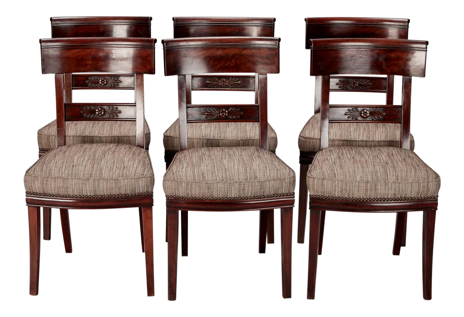 Charmant Set Of Six French First Empire Dining Chairs