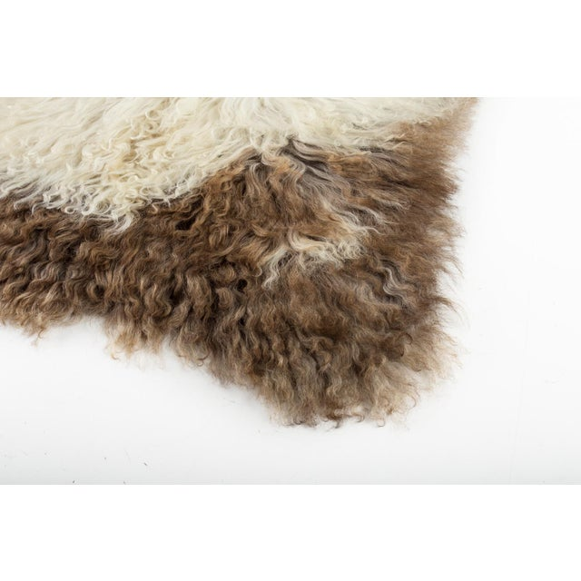 Hand-Tanned Sheepskin Pelt Rug - 2′3″ × 3′6″ For Sale In Chicago - Image 6 of 7