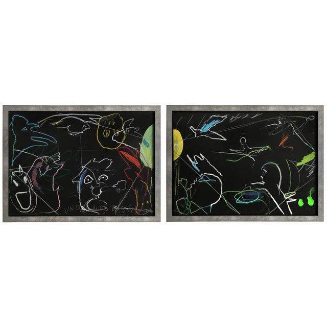 "James C. Harrison ""Underworld / Heavenly Baseball"" Framed Drawings For Sale - Image 11 of 11"
