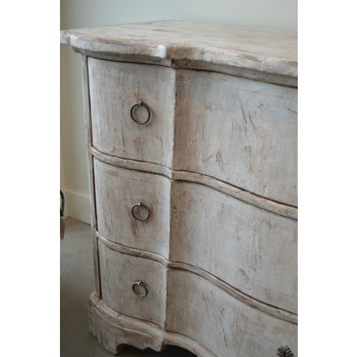Italian White Painted Three Drawer Chest For Sale - Image 11 of 12