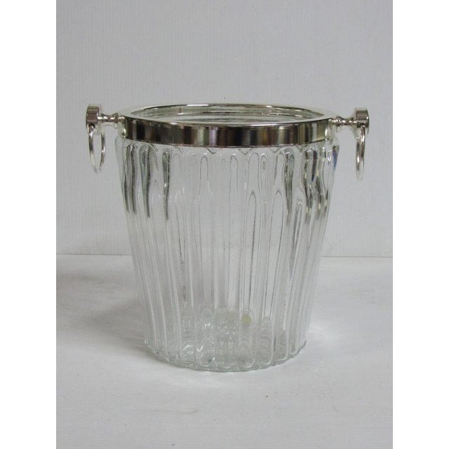 Silver Plate Champagne Stand & Crystal Bucket Set - Image 5 of 6