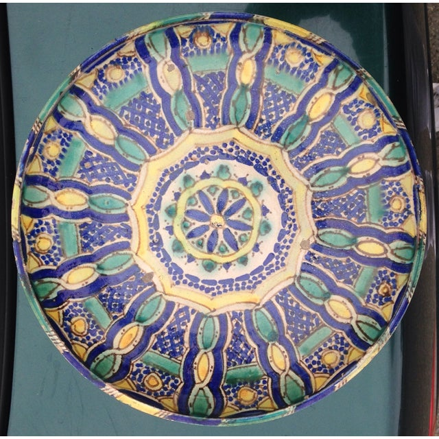 Hand Painted Moroccan Platter - Image 2 of 7