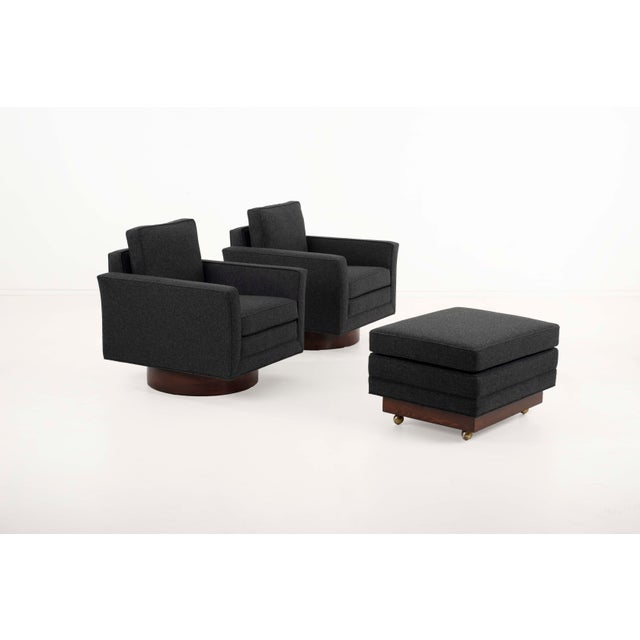 1950s Harvey Probber Lounge Chairs and Ottoman-Set of 3 For Sale In Chicago - Image 6 of 12